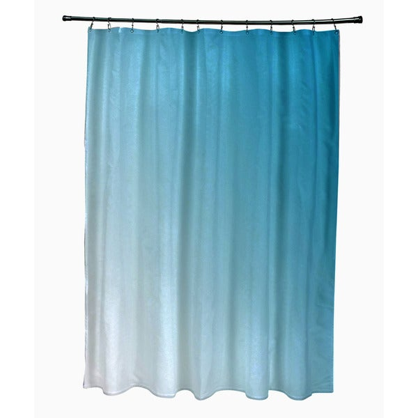 71 x 74-inch Peacock Ombre Shower Curtain