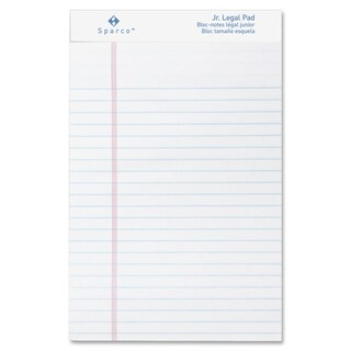 Sparco Junior Legal-Ruled White Writing Pads