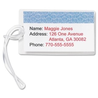 Sparco Pre-trimmed Laminated Luggage Tags (Box of 100)