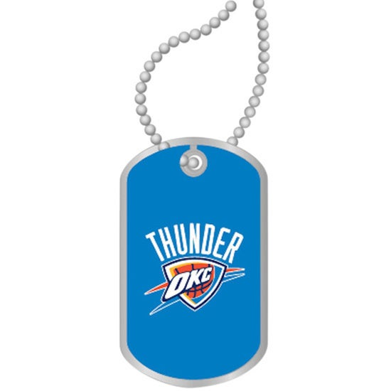 new product 47fb5 cd256 NBA OKC Oklahoma City Thunder Dog Tag Necklace Charm Gift Set