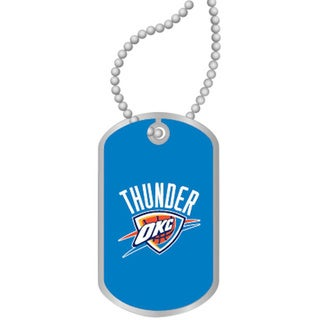 NBA OKC Oklahoma City Thunder Dog Tag Necklace Charm Gift Set