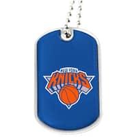 NBA New York Knicks Dog Tag Necklace Charm Gift Set