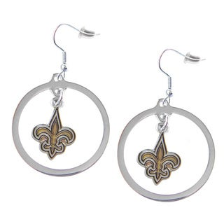 NFL New Orleans Saints Hoop Earring Charm Gift Set
