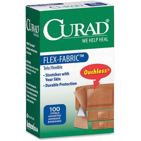 Medline Curad Flex-Fabric Bandages (Box of 100)