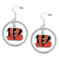 NFL Cincinnati Bengals Hoop Earring Charm Gift Set