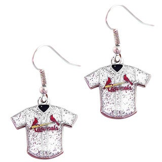 MLB St. Louis Cardinals Glitter Jersey Earrings Gift Set