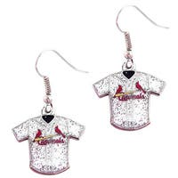 MLB St. Louis Cardinals Glitter Jersey Charm Dangle Earring Set