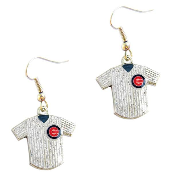 MLB Chicago Cubs Glitter Jersey Charm Dangle Earring Set