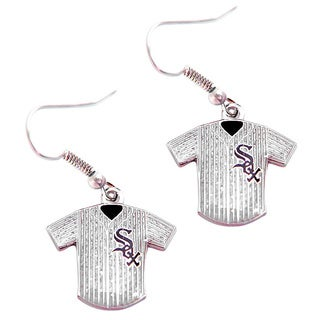 MLB Chicago White Sox Glitter Jersey Earrings Gift Set
