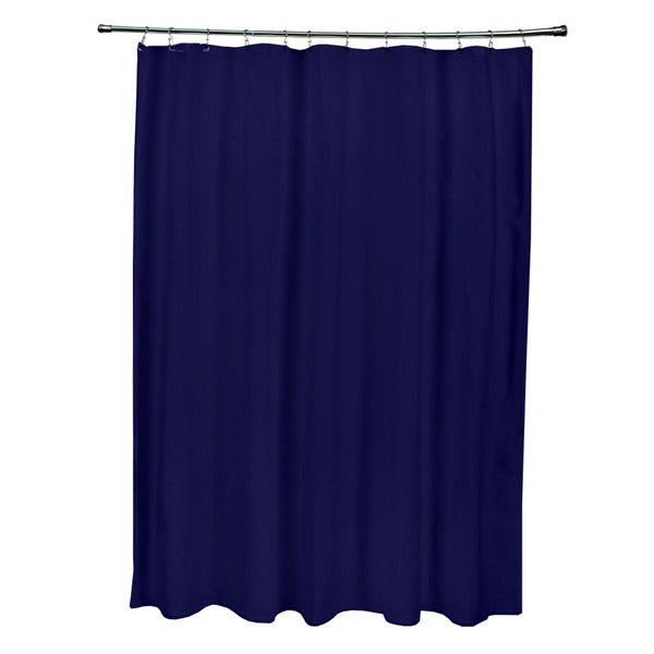 71 x 74-inch Spring Navy Solid Shower Curtain