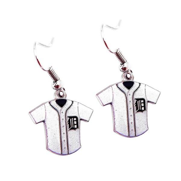 MLB Detroit Tigers Glitter Jersey Charm Dangle Earring Set