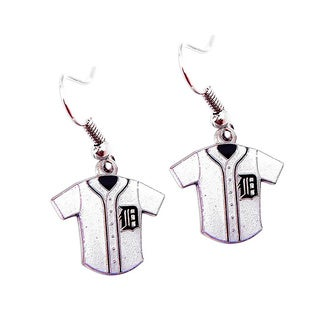 MLB Detroit Tigers Glitter Jersey Charm Dangle Earring Set