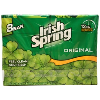 Irish Spring Original Deodorant 4-ounce Soap (Set of 8)