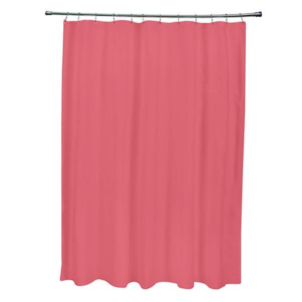 71 x 74-inch Dark Coral Solid Shower Curtain