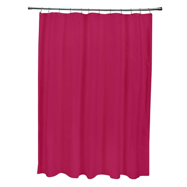 Shop 71 X 74 Inch Dark Lipstick Solid Shower Curtain