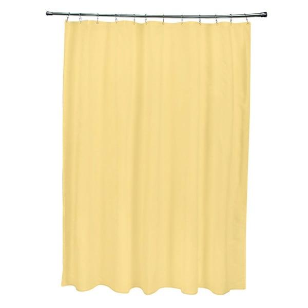 71 x 74-inch Dark Lemon Solid Shower Curtain