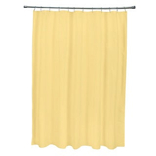 71 x 74-inch Dark Lemon Solid Shower Curtain