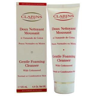 Clarins Gentle 4.4-ounce Foaming Cleanser with Cottonseed for Normal to Combination Skin