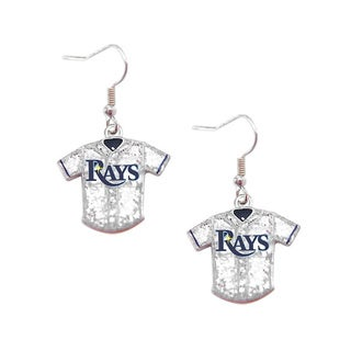 MLB Tampa Bay Rays Glitter Jersey Charm Dangle Earring Set