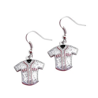 MLB Boston Red Sox Glitter Jersey Earrings Gift Set