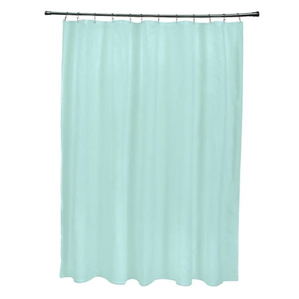 71 x 74inch Ocean Solid Shower Curtain  Free Shipping Today  Overstock.com  16678524
