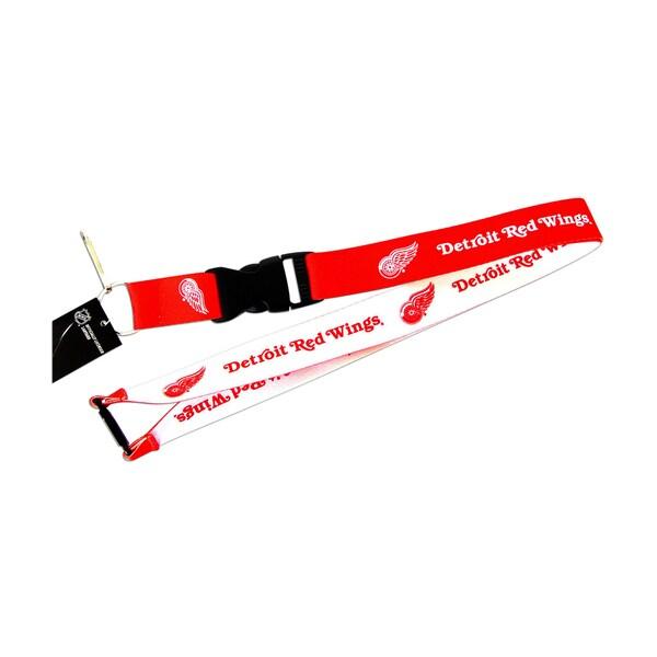 NHL Detroit Red Wings Reversible Lanyard Charm Gift Set