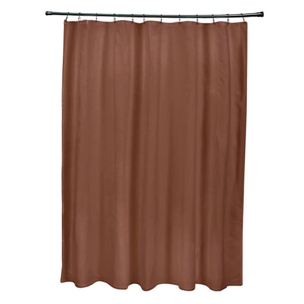 71 x 74-inch Copper Solid Shower Curtain