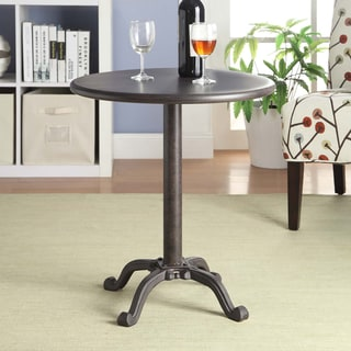 Reece Industrial Pedestal Accent Table