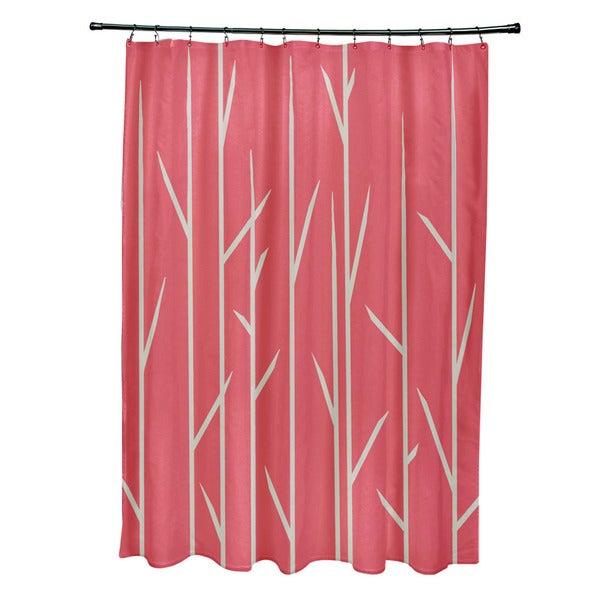71 x 74-inch Grasses Print Shower Curtain