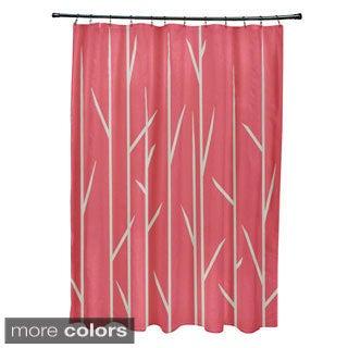 71 x 74-inch Grasses Print Shower Curtain