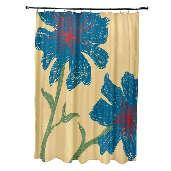 Funky Kitchen Curtains: 71 X 74-inch Multi Funky Floral Shower Curtain