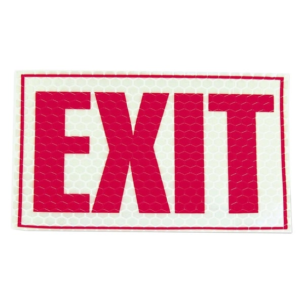 Miller S Creek Reflective Exit Sign Free Shipping On