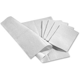 Medline Standard Poly-backed White Tissue Towels (Box of 500)