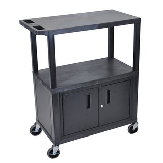 Luxor EA Series Black 3-shelf Electric Cabinet Presentation Station