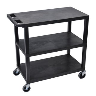 Luxor EA Series Black 32x18-inch 3-shelf Presentation Station