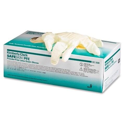 Kimberly-Clark Natural Large Size Powder-free Latex Exam Gloves (Box of 100)