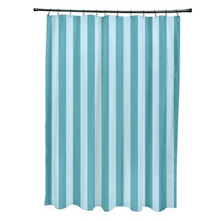 71 x 74-inch Omar and Bahama Striped Shower Curtain