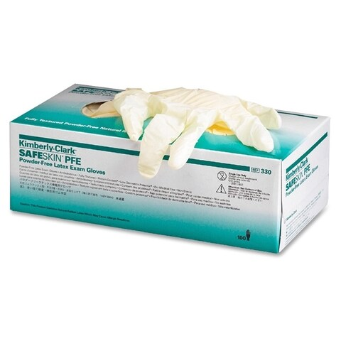 Kimberly-Clark Natural X-small Size Powder-free Latex Exam Gloves (Box of 100)