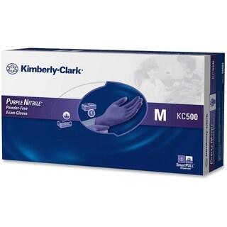 Kimberly-Clark Purple Medium Size Nitrile Exam Gloves (Box of 100)