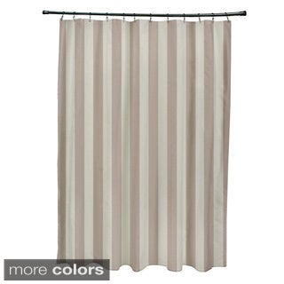 71 x 74-inch Two-tone Neutral Striped Shower Curtain