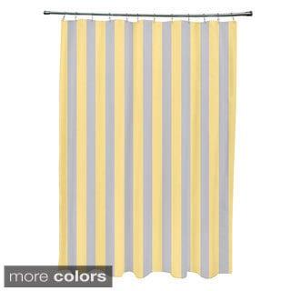 71 x 74-inch Rain Striped Shower Curtain