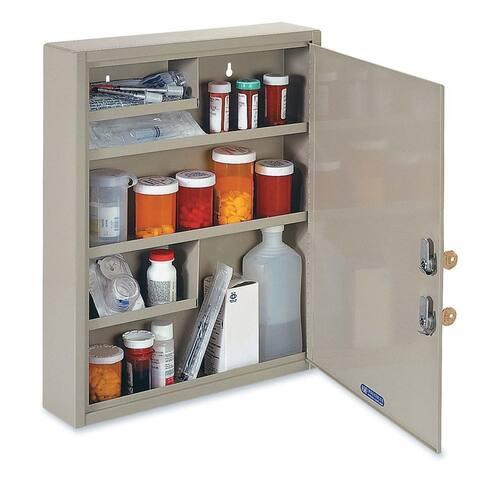 MMF Industries Dual-locking Steel Drug Cabinet