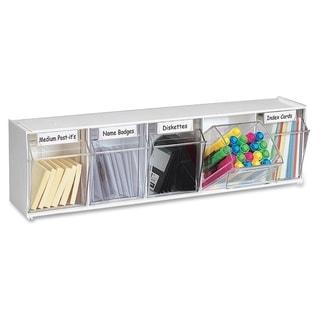 Deflect-o Modular 5-compartment Tilt Bin Storage System
