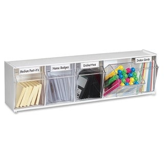Deflect-o Modular 5-compartment Tilt Bin Storage System