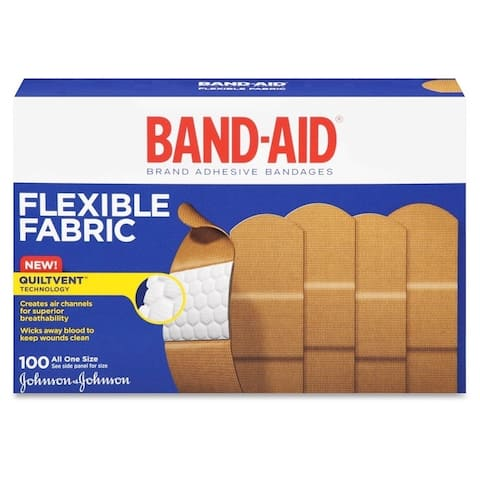 Johnson 1-inch Flexible Fabric Band-Aids (Box of 100)