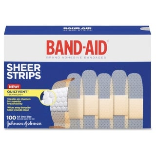 Johnson Band-Aid Sheer Adhesive Bandages (Box of 100)