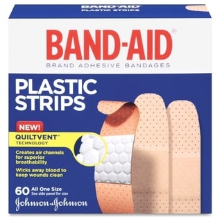 Johnson Band-Aid Comfort-flex Plastic Bandages (Box of 60)