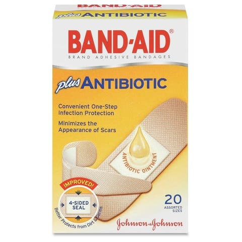 Johnson Band-Aid Antibiotic Bandage (Box of 20)