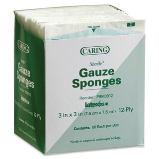 Medline Sterile Woven Gauze Sponges (Box of 80)