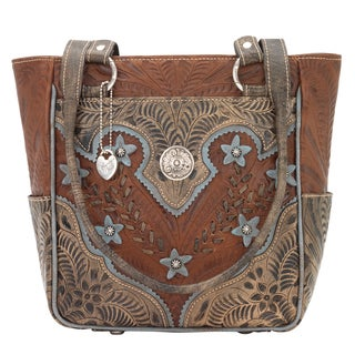 American West Multicolored Zip-top Tote